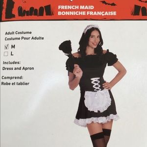 2 Pc- French Maid Costume Size Med
